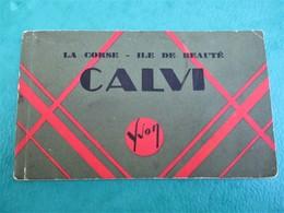 Magnifique Carnet 12 Cpa De CALVI Aux Editions YVON - Complet & En TBE - Voir Les 5 Scans - Calvi