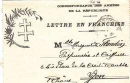 """*CPA - CARTE LETTRE EN FRANCHISE- CORRESPONDANCE MILITAIRE - CACHET """"TRÉSOR & POSTES- 02/05/18 - Postmark Collection (Covers)"""