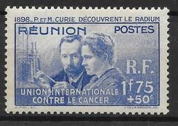 REUNION : PIERRE ET MARIE CURIE N° 155 NEUF * GOMME AVEC CHARNIERE - La Isla De La Reunion (1852-1975)