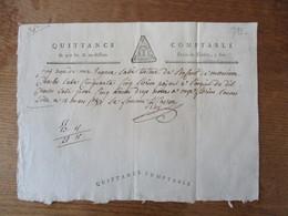 LILLE LE 15 MARS 1793 QUITTANCE COMPTABLE DE 400 LIV. & AU-DESSOUS DROIT DE TIMBRE 5 SOLS - Fiscaux