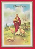 CARTOLINA VG ITALIA - BUONA PASQUA - Cristo Pastore - P. Ventura - Ediz. Rinup. - 10 X 15 - 1962 - Pasqua