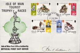 Isle Of Man Set On FDC With Signature - Isle Of Man