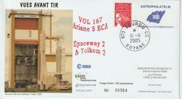 France Kourou 2005 Lancement Ariane Vol 167 Timbre Personnalisé - Personalisiert