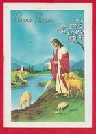 CARTOLINA VG ITALIA - BUONA PASQUA - Cristo Pastore - P. Ventura - CECAMI 727 - 10 X 15 - 1972 MOIMACCO - Pasqua