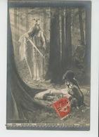 "FEMMES - FRAU - LADY - TABLEAUX - SALON 1911 - ""Die Walküre "" - (VALKYRIE )par GASTON BUSSIERE - Femmes"