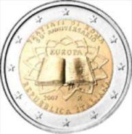 Italie 2007     2 Euro Commemo       Verdrag Van Rome   UNC Uit De Rol  UNC Du Rouleaux  !! - Italie