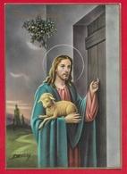 CARTOLINA VG ITALIA - BUONA PASQUA - Cristo Pastore - P. Ventura - CECAMI 7349 LUCIDA - 10 X 15 - 1965 BREMBILLA - Pasqua