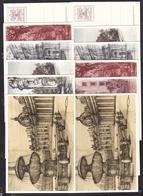 1977 Vaticano Vatican FONTANE DEL VATICANO  FOUNTAINS Interi Postali 2 SERIE DI 6 CARTOLINE ILLUSTRATE (12 Cartoline) - Postwaardestukken