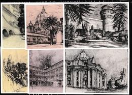 1978 Vaticano Vatican Interi Postali FONTANE E VEDUTE C18 Serie Di 6 Cartoline L130 Nuove - Postwaardestukken