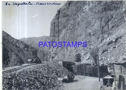 118487 ARGENTINA MENDOZA USPALLATA ESTACION TREN STATION TRAIN  15.5 X 11 CM PHOTO NO POSTCARD - Fotografía