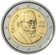 Italie 2010     2 Euro Commemo    Camillo Benso (Cavour)    UNC Uit De Rol  UNC Du Rouleaux  !! - Italie