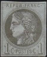 France  .   Yvert   .     39 C      .        (*)          .       Pas De Gomme  .   /   .     No Gum - 1870 Emission De Bordeaux