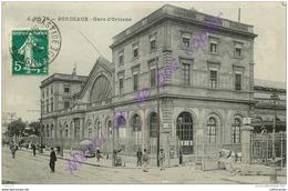 33. BORDEAUX .  Gare D'Orléans . CPA Animée . - Bordeaux