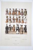 """LITHOGRAPHIE WARET, Imp. FIRMIN DIDOT & Cie - Costumes Divers """"PORTUGAL"""" - Lithographies"""