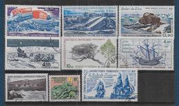 TAAF - Lot De 9 Timbres Oblitérés - Cote : 56,8 € - Collections, Lots & Series