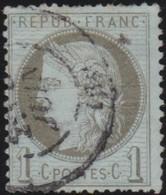 France  .   Yvert   .    50     .        O         .       Oblitéré - 1871-1875 Cérès