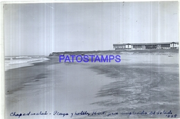 118495 ARGENTINA MAR DEL PLATA CHAPADMALAL PLAYA Y HOTELES PARA EMPLEADOS ESTADO 17 X 11.5 CM PHOTO NO POSTAL POSTCARD - Fotografie