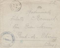 """1940 Lettre FM """"RESERVE GENERALE D'HABILLEMENT D'ESTRESSIN """" VIENNE ISERE - CORRESPONDANCE - Guerre Mondiale (Seconde)"""