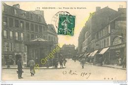 92. ASNIERES . La Place De La Station . - Asnieres Sur Seine