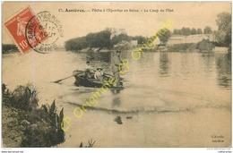 92.  ASNIERES . Pêche à L'Epervier En Seine . Le Coup De Filet . - Asnieres Sur Seine