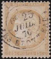 France  .   Yvert   .    55      .        O         .       Oblitéré - 1871-1875 Cérès