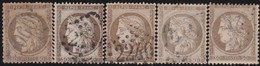 France  .   Yvert   .    56  5x      .        O         .       Oblitéré - 1871-1875 Cérès