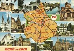(28  EURE ET LOIR ) ( CARTE GEOGRAPHIQUE) - Landkarten