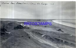118501 ARGENTINA TIERRA DEL FUEGO BAHIA SAN SEBASTIAN VISTA PARCIAL AÑO 1943 16.5 X 10 CM PHOTO NO POSTAL POSTCARD - Fotografie