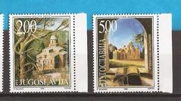 1999  2898-9   GRACANICA - DECANI KLOSTER    IN SERBIEN JUGOSLAVIJA JUGOSLAWIEN  MNH - Serbia
