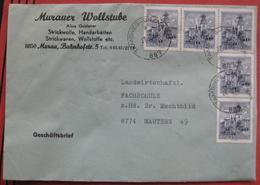 Bahnpost Tamsweg - Unzmarkt: Brief 1980 Mehrfachfrankatur Bauten - Marcophilie - EMA (Empreintes Machines)