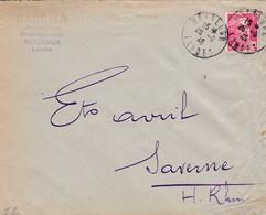 N°716 Type Marianne De Gandon / Lettre Des Ets Barbier De Hossegor (Landes) - Poststempel (Briefe)