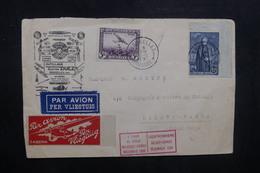 BELGIQUE - Enveloppe De Bruxelles Pour Le Congo Belge En 1930 Par Avion, Affranchissement + Vignette Plaisants - L 40470 - Belgique