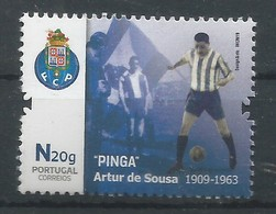 "Portugal 2019 , Futebol - "" PINGA"" Artur De Sousa - 1909/1963 - Postfrisch / MNH / (**) - 1910-... Republik"