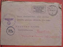 """8010 Graz - Werbestempel """"Spinnstoff Wäsche- Und Kleidersammlung 1944"""" / Feldpost Grenzwacht - Marcofilie - EMA (Print Machine)"""