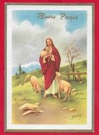 CARTOLINA VG ITALIA - BUONA PASQUA - Cristo Pastore - P. Ventura - Ediz. Rinup. - 10 X 15 - 19?? - Pasqua