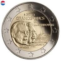 Luxemburg 2012     2 Euro Commemo     Groothertog Willem IV     UNC Uit De Rol  UNC Du Rouleaux  !! - Lussemburgo