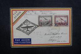 BELGIQUE - Enveloppe Par Avion Bruxelles / Abidjan Par Voie Française En 1937, Affranchissement Plaisant - L 40476 - Cartas