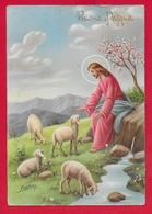 CARTOLINA VG ITALIA - BUONA PASQUA - Cristo Pastore - P. Ventura - CECAMI 7287 - 10 X 15 - 1966 - Pasqua