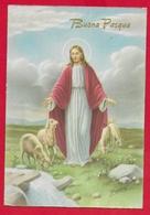 CARTOLINA VG ITALIA - BUONA PASQUA - Cristo Pastore - P. Ventura - CECAMI 7287 - 10 X 15 - 1961 - Pasqua