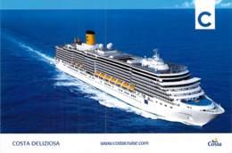 PAQUEBOT De CROISIERE : COSTA DELIZIOSA ( Costa Cruises ITALIE / USA Carnival Corporation ) CPM GF - Liner Cruise Ship - Piroscafi