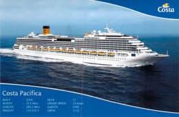 PAQUEBOT De CROISIERE : COSTA PACIFICA ( Costa Cruises ITALIE USA Carnival Corp. ) CPM GF - Liner Cruise Ship - Piroscafi