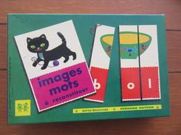 Jeu De Société : IMAGES ET MOTS A RECONSTITUER  Années 1970/80 Bon état. - Jeux De Société