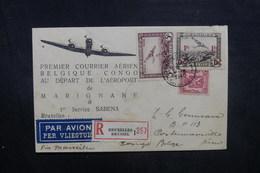 BELGIQUE - Enveloppe En Recommandé De Bruxelles En 1940 Pour Le Congo Belge, Affranchissement Plaisant - L 40480 - Cartas