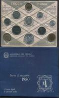 1980 Italia, FDC Serie Divisionale - 1946-… : Repubblica