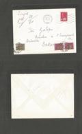 FRC - Senegal. 1971 (28 Oct) Franche Chalons S/ Marne - Dakar (10 Nov) Fkd + Insuff + Taxed Envelope + 3 Postage Dues At - Francia (antiguas Colonias Y Protectorados)
