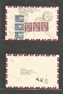 SIAM. 1952 (14 March) BKK - Switzerland, Drepolsan. Reverse King Bhumipol Multifkd Env. AV2 Air Cachet. Fine. - Siam