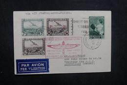 BELGIQUE - Enveloppe De Bruxelles Pour Libreville Par Avion Français En 1937 Affranchissement Plaisant - L 40482 - Cartas