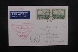 BELGIQUE - Carte Postale ( Sabena ) De Bruxelles Pour Brazzaville En 1938 Par 1er Vol Alger / Brazzaville - L 40484 - Cartas
