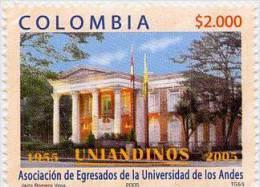 Lote 2370, Colombia, 2005, Sello, Stamp, Universidad De Los Andes, University Association, Uniandinos - Colombia