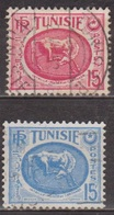Protectorat Français - TUNISIE - Cheval, Musée De Carthage - N° 344-344a - 1950 - Tunisia (1888-1955)